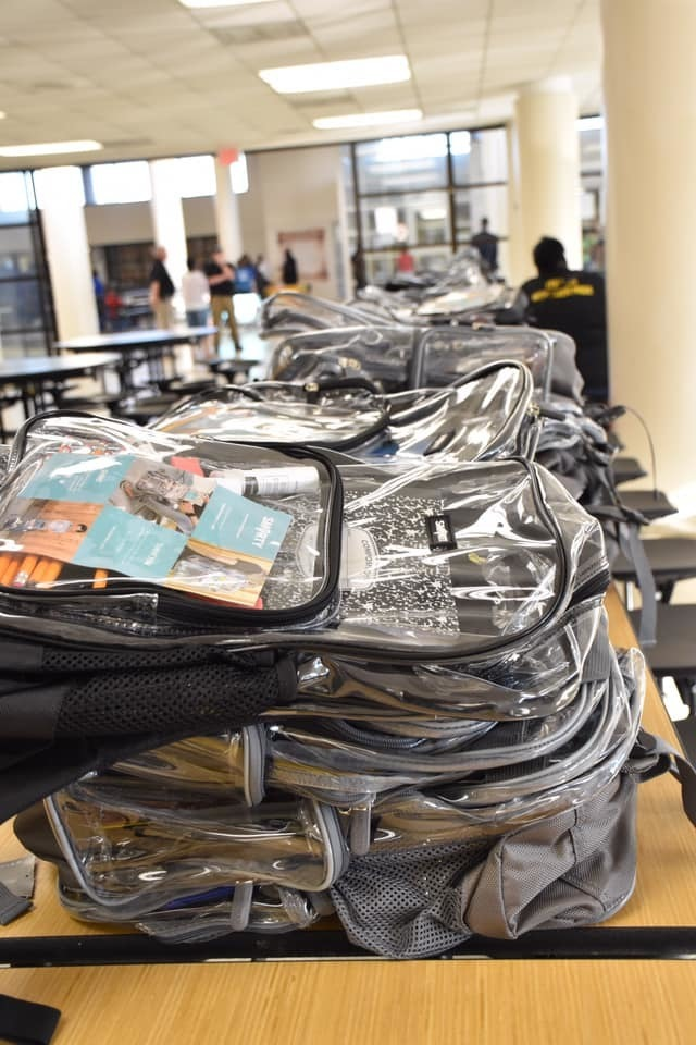 ACS provided clear, heavy duty backpacks for all students in the district at annual Back to School Bash