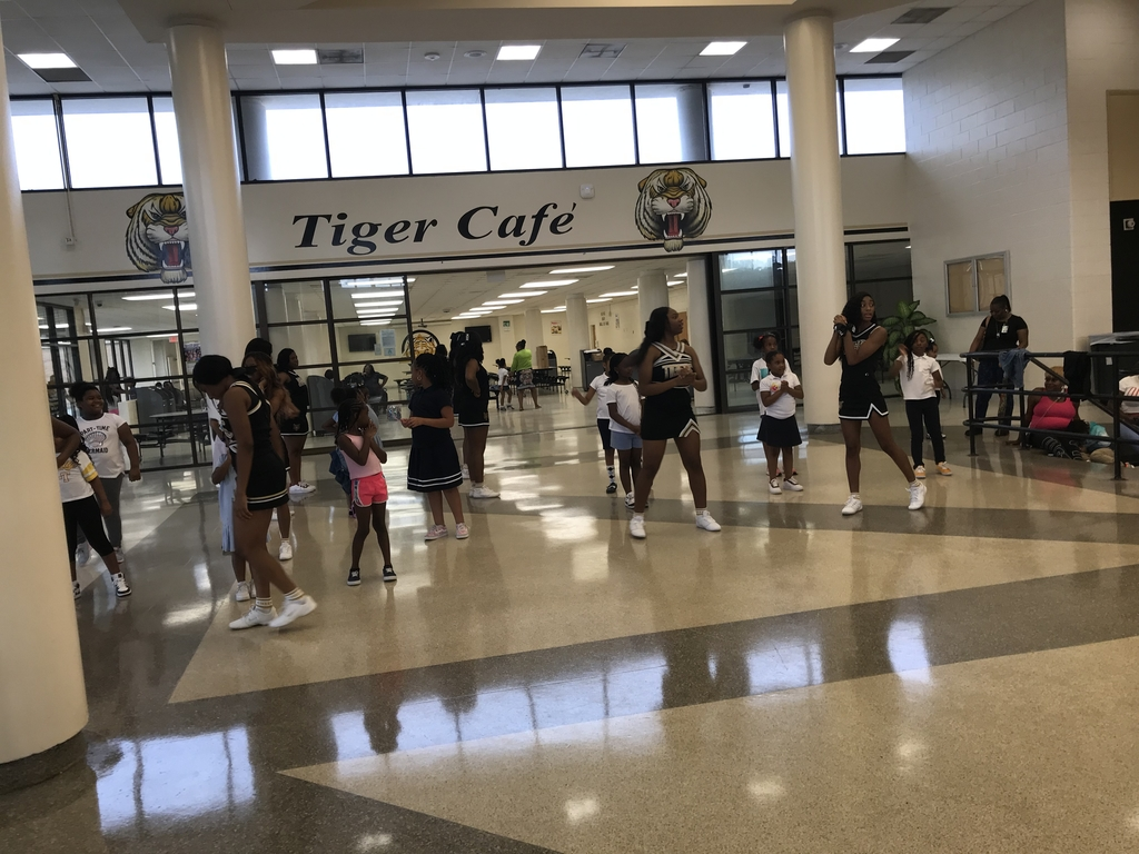 Baby Tigers cheerleaders📣 practicing!