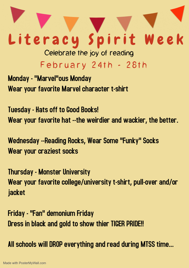 Literacy Spirit Week