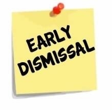 Friday, February 28th @ 1:00 p.m early dismissal! Car Riders 🚘 must be picked up by 1:15 p.m.