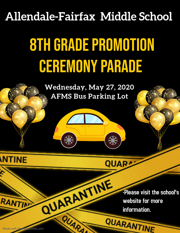 8th Grade Promotion Ceremony Parade