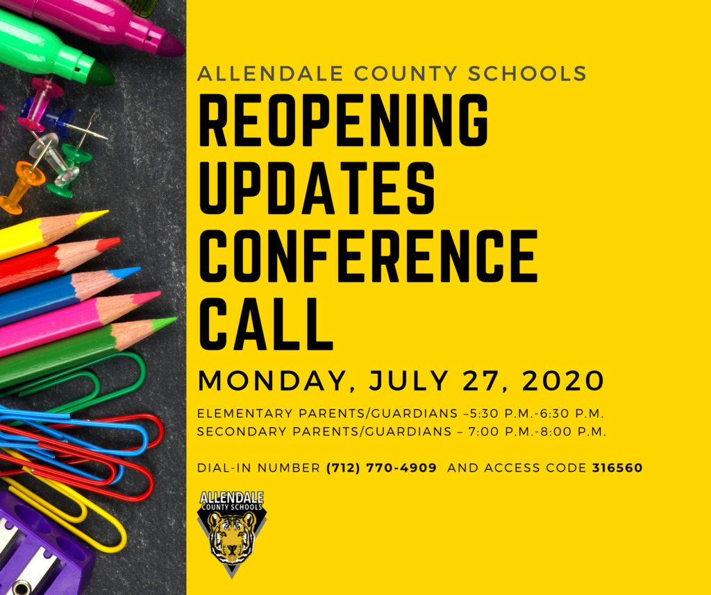 Call in on Monday for ACS reopening updates and Q&A with Superintendent Dr. Gilmore.